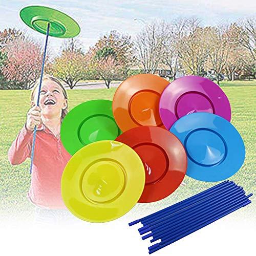Drehend Teller Set 18pcs Junge Mädchen Stage Unterhaltung Requisiten Kinder Party Geschenk Jonglieren Skill Acrobatics Spielzeug Zirkus Performance Hobby Spiel
