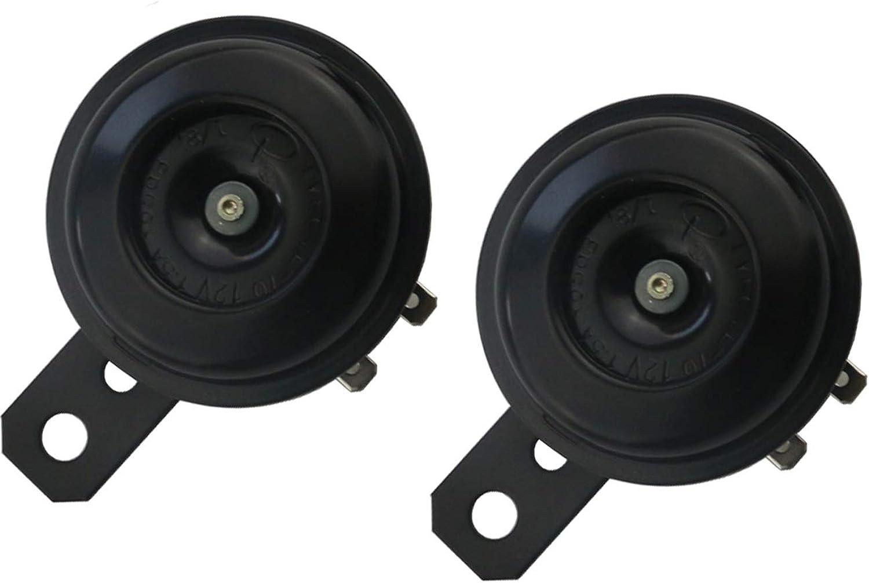 Sunnyglade 12V 1.5A Universal Motorcycle Loud Horn Speaker Waterproof Horn Speakers Round Loud Horn Speaker