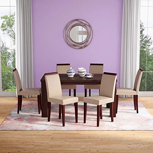 Godrej Interio Rose Dining Chair (Dark Coffee, Set of 2)