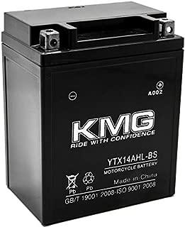KMG YTX14AHL-BS Battery For Honda 900 CB900C, F 1980-1982 Sealed Maintenace Free 12V Battery High Performance SMF OEM Replacement Maintenance Free Powersport Motorcycle ATV Snowmobile Watercraft KMG