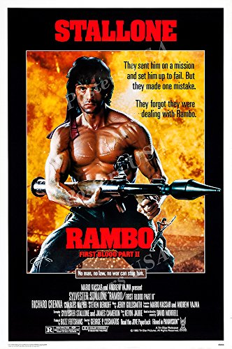 Posters USA - Stallone Rambo First Blood Part II Movie Poster GLOSSY FINISH - FIL151 (24' x 36' (61cm x 91.5cm))