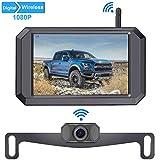 LeeKooLuu 1080P Wireless Backup Camera 5'' Display Digital Signals 2020 New Chips for Trucks,Small...