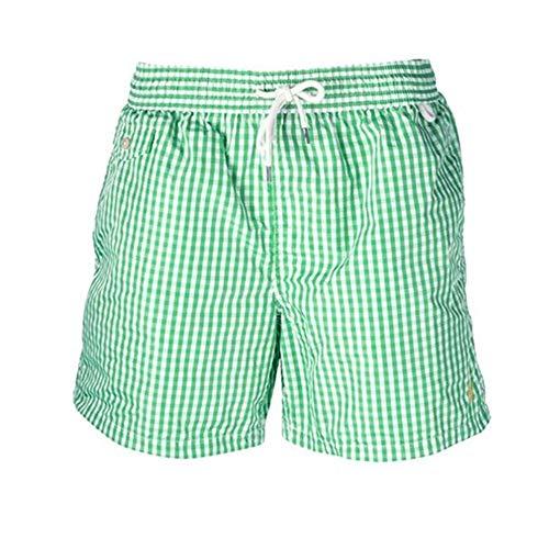 Ralph Lauren, Pantaloncini da Bagno per Uomo (XXL, Green Gingham)