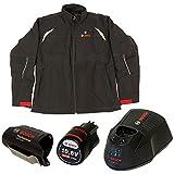 Bosch Professional (Herren)Heiz-Jacke Größe XL (mit 12V Akku 2, 0 Ah (bis 6h Wärme), Ladegerät, beheizbare Softshell-Jacke Heat+ jacket)