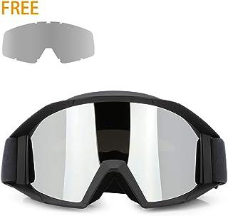 cd4fc6b0217 JAMIEWIN Adult Motorcycle Motocross Goggles ATV Racing Goggles Dirt Bike Mx  Goggle Glasses and Ski Snowborading