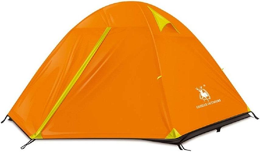 CATRP Marque Tente de Camping en Plein air, Tente Polaire en Aluminium caoutchouté Haut de Gamme pour 3 Personnes, Tente de Camping Anti-tempête (Couleur   Orange)