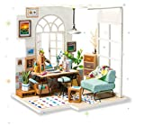 Rolife Miniatura casa de muñecas con Luces Office House Modelo DIY Craft Juguetes para Adultos-Mejor Regalo para Adolescentes y Mayores(Soho Time)