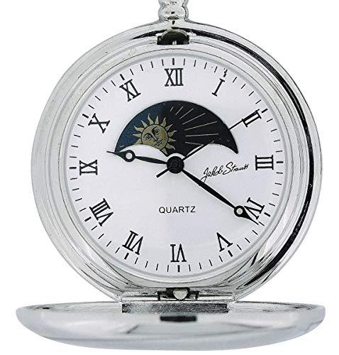 Jakob Strauss M5097.01 Taschenuhr, Metallarmband, Silber