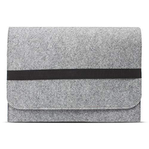 eFabrik ROYALZ Tasche für Lenovo IdeaPad 320S / IdeaPad 330s Schutztasche aus Filz Filztasche Hülle Sleeve Soft Cover Schutzhülle Sleeve, Farbe:Grau