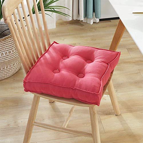 DAGCOT Silla de oficina Asiento Cojín cuadrado Cojín Silla, super suave y transpirable for sillas cojines del asiento del cojín, 10cm espesa el tatami Cojín de suelo Comfort amortiguador del asiento 5