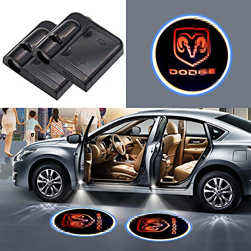 Car concentration camp Dodge Car Door Led Welcome Laser Projector Car Door Courtesy Light Suitable Fit for All Brands of Cars (for dodge)