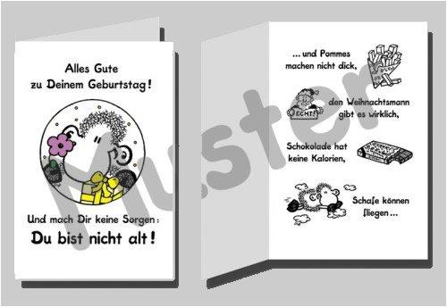 Sheepworld Geburtstagskarte Du bist nicht alt!