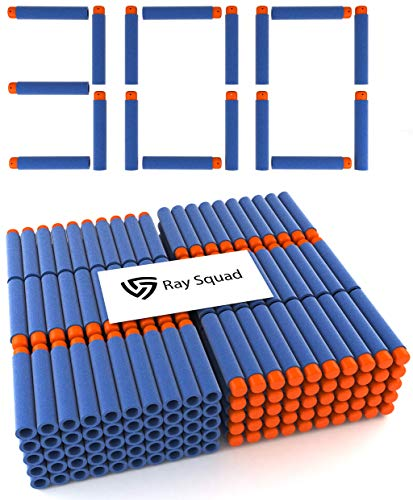Ray Squad, Nerf Compatible Foam Toy Darts, 300 Pack, Premium Refill Bullets for N-Strike Guns, Universal Dart Bullet Pack, Firm and Safe Nerf Gun Compatible Ammo Accessories