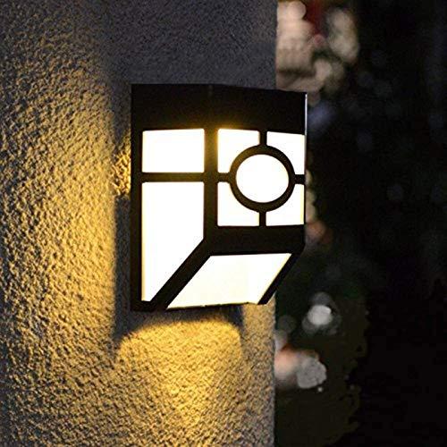 Lámpara de pared resistente Luces solares Sensor de movimiento sin energía Luces de sensor de movimiento de 270 ° IP65 IP65 a prueba de agua for la cerca de la cubierta Pastería de la pared y garaje,