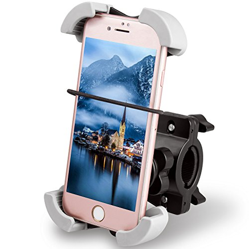 Quntis Soporte Móvil Bicicleta Soporte 360ºRotable, Antideslizante y Seguro Compatible con Phone XS MAX XS XR X 8 7 Plus 6 Plus, Samsung S7 S6 S6 Note GPS, Google Nexus 6p 6 5X 5, LG, Xperia (Negro)