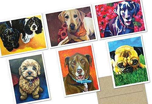 Note Card Cafe All Occasion Greeting Cards with Envelopes   72 Pack   Blank Inside, Glossy Finish   6 Puppy Love Designs   Assorted Set for Greeting Cards, Occasions, Birthdays