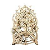 AOVOI Puzzles 3DPuzzle 3D mecánico Trasero Reloj del Arte del Rompecabezas de Madera de Juguete de Bricolaje Constante Asamblea Péndulo Craft Set Regalo