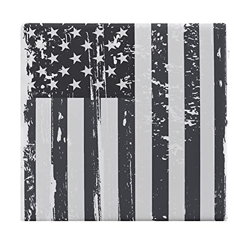 Cojines de Suelo Cuadrados,Cojín de Asiento de cojín de Silla,Bandera de los e.e.u.u. Grunge Bandera Americana Vieja,Sentado para Oficina,hogar,Suave Espesar