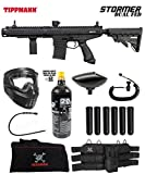 Maddog Tippmann Stormer Elite Dual Fed Corporal Paintball Gun Marker Starter Package - Black