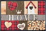 Wash+Dry Cottage Home Felpudo, Acrílico, Multicolor, 40.0x60.0x0.7 cm