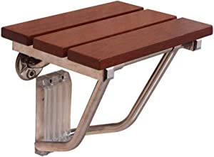 ZBYY Wooden Bath Stool Shower Chairs For The Elderly Wall Mounted Foldable For Barrier-free Disabled Max 150kg 12x10x11inch