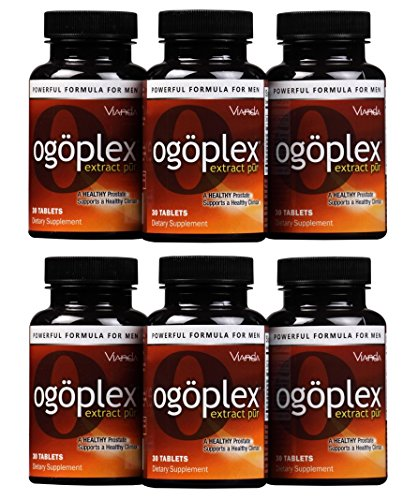 Ogoplex® | Male Prostate Health and Urinary Support Supplement with Graminex® Swedish Flower Pollen, Saw Palmetto, Phytosterols & Lycopene - 1 Month Supply (6 Pack)