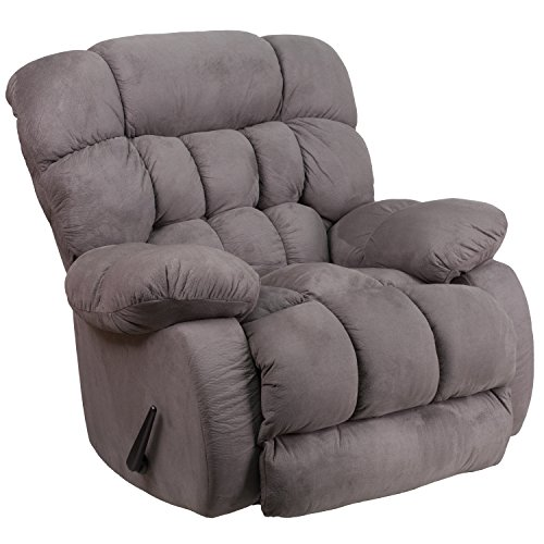 Flash Furniture Contemporary Softsuede Graphite Microfiber Rocker Recliner