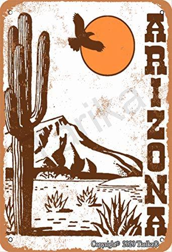 Arizona Poster Desert 20.3 x 30.5 cm Vintage Look Pintura Letrero Decoración para el hogar, cocina, baño, granja, jardín, garaje, citas inspiradoras Decoración de pared
