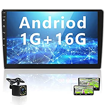 Android Car Stereo 10 inch Double Din Bluetooth GPS Navigation Car Audio with Backup Camera FM Radio Two USB,HD Touch Screen Head Unit Support WiFi Android/iOS Mirror Link Steering Wheel Control