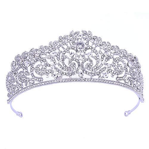 RXHTT Hochzeit Krone Braut Kopfbedeckung Legierung Blatt Diamant Dinner Party Kleid Haarschmuck Geliebten Freundin Frau Halloween Geburtstag Party Birthday Prom
