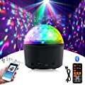 Homealexa Disco Ball LED Night Light Disco Light Effects with Bluetooth Speaker Disco Light Projector Lamp Music-controlled 9 Color Party Light with Remote & USB Cable for Kids Birthday Party