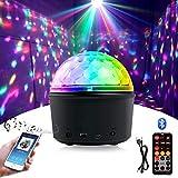 *Homealexa Bola de discoteca LED efectes de llum de discoteca amb altaveu *Bluetooth, llum de discoteca, projector, llum de discoteca, 9 colors, llum de festa amb comandament a distància i cable USB