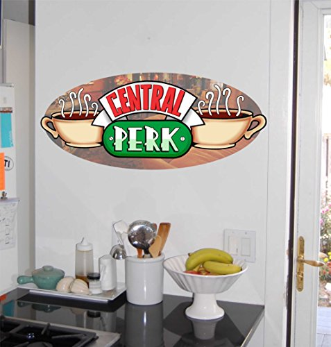 Central Perk Coffee House Symbol Logo - Friends - Repositionable Wall Graphic Decal Sticker - TV - Kitchen Decor