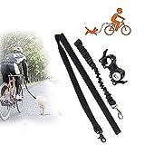 YOMERA Fahrradleine Hund, Hundeleine Fahrrad mit Stoßfeder, Hund Fahrradhalterung für das Training Radfahren im Freien, Fahrrad Hund für Sicheres Radfahren mit Hund