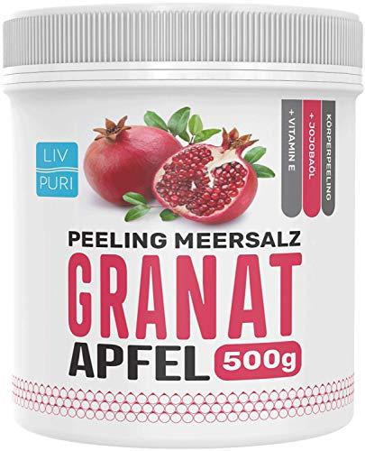 LivPuri Peeling Salz Granatapfel mit Jojobaöl, 500g Peelingsalz optimal anwendbar als...