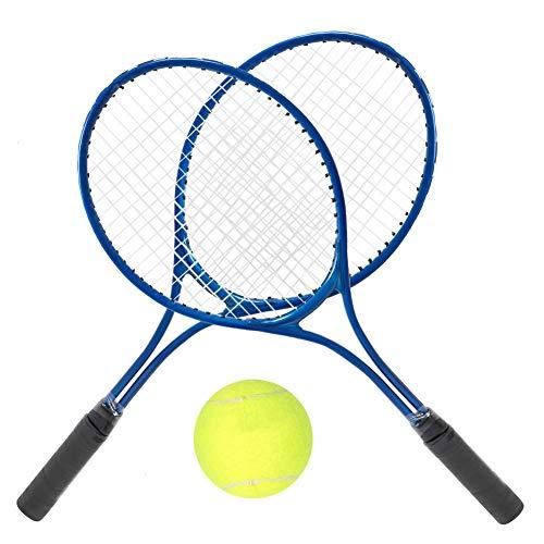 Tennisschläger-Set für Kinder, mit Ball, 2 Tennisschläger und Tragetasche, Übungsschläger für Kleinkinder, Indoor- oder Outdoor-Sportarten