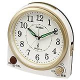ランデックス(Landex) 目覚まし時計 アナログ メロディーライフ 連続秒針 3曲メロディーアラーム ホワイト YT5264WH