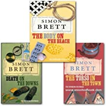 Simon Brett Fethering mysteries collection 3 books set. (The body on the beach, the torso in the town and death on the downs)