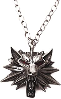 MIXIA Vintage Wolf Head Pendant The Witcher 3 Wild Hunt Figure Game Wizard Witcher 3 Medallion Necklace