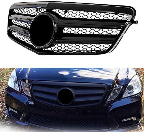 lndytq Rejilla Delantera Amg Parachoques para Mercedes Benz W204 Clase C C63 C250 C300 C200 C350 2007-2014 Negro Brillante