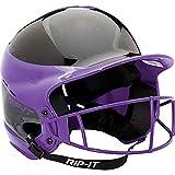 RIP-IT visión Pro Away Softball Casco de bateo - VISN-PA, Away Purple