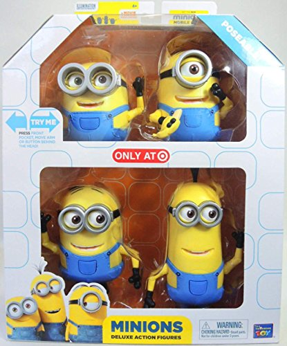 Despicable Me Minions Movie Minions Deluxe Exclusive 5' Action Figure 4-Pack