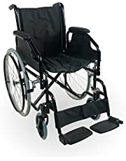 Mobiclinic, modelo Catedral, Silla de ruedas plegable, ortopédica, para minusválidos, manual, freno en manetas, reposapiés y reposabrazos extraíbles, color Negro, asiento, ultraligera