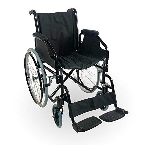 Mobiclinic, Faltrollstuhl, Catedral, Europäische Marke, Rollstuhl für Ältere und Behinderte, selbstfahren, Leichtgewicht, Abnehmbare Armlehnen, Abnehmbare Fußstützen, Schwarz