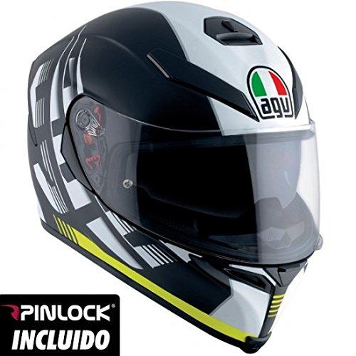Preisvergleich Produktbild Helm AGV K-5 S Darkstorm schwarz matt / gelb L Schwarz