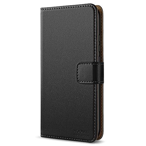 Handyhülle für Huawei Mate 10 Pro Hülle, Premium PU Leder Flip Schutzhülle für Huawei Mate 10 Pro Tasche, Schwarz