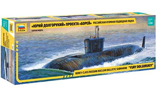 ZVEZDA 500789061 - Maqueta de submarina Nuclear Yuri Dolgorukij, Escala 1:72, maqueta, modelismo, Hobby, Manualidades, de plástico
