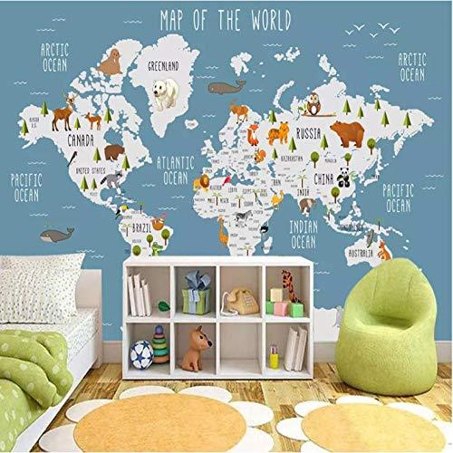 Fotomurales papel de pared 3d mapa del mundo no tejido moderna Fotográfico Diseno TV Fondo grandes salones Hogar decorativos -350X250 cm (137 * 98 pulgadas)