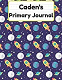 Caden's Primary Journal: Grade Level K-2 Draw and Write, Dotted Midline Creative Picture Notebook Early Childhood to Kindergarten