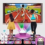 XYW Alfombra de Baile Doble HD 3D Máquina De Juego Somatosensorial Canciones Y Juegos PVC 11 mm de Espesor Manta de Masaje Calidad Casa EducaciónModo De Anime para niños y Adultos